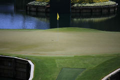 17 fl高尔夫球漏洞ponte sawgrass tpc vedra 免版税库存图片