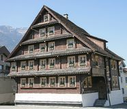 17 gammala schweizare för hus Arkivbild