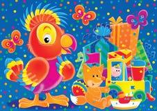 17 gladlynt djur Stock Illustrationer