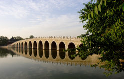 17 hole bridge in summer palace Royalty Free Stock Photography