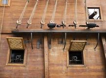 17. Jahrhundert Galleon Kanonen Lizenzfreie Stockbilder