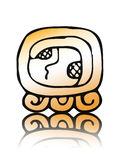 17 Kaban - maya calendar seal vector Stock Images