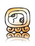 17 Kaban - sceau de calendrier de Maya Images stock