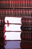 17 lagliga böcker Arkivfoton