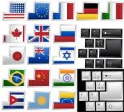 17 olika tangentbordtangenter Arkivfoton