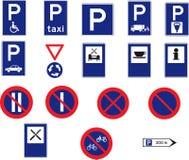 17 signes de route Images libres de droits