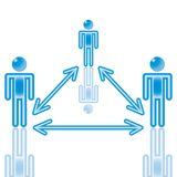 17. Teamwork in blue. Rasterized Royalty Free Stock Photo