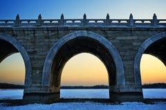 17 łuków most Fotografia Stock