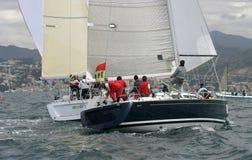 17 wypływa jachting Zdjęcie Royalty Free