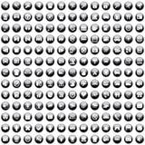 170 iconos fijados ilustración del vector
