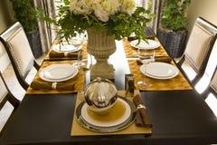 таблица 1707 декора обедая Стоковые Фотографии RF