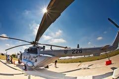 171sh克罗地亚直升机mi军人 免版税库存图片