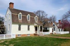 1730 co房子约翰・泰勒VA威廉斯堡 图库摄影