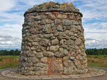 1745争斗culloden纪念碑 免版税库存图片