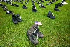 1746 στρατιωτικές μπότες Στοκ Εικόνες