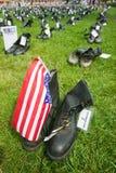 1746 στρατιωτικές μπότες Στοκ Εικόνα