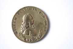 1767古色古香的古铜色硬币荷兰语 图库摄影