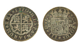 1770 pièce de monnaie réelle de l'Espagnol 2 Image stock