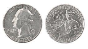 1776 1976 dollar fjärdedel Arkivbilder