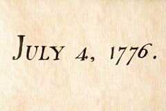 1776 7月四日 库存照片
