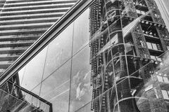 179 reflections of woodwards-vancouver-gastown-xe2-zeiss35-2-20151009-DSCF7531-Edit.jpg Stock Photography