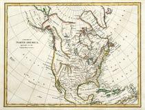 1791 kaart van Noord-Amerika Stock Foto
