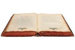 17th Århundradebok med tomma sidor Arkivbild