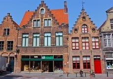 17th Århundradebyggnader i Bruges, Belgien Royaltyfria Bilder