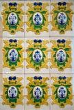 17th античные плитки столетия Стоковое Фото