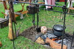 17th Century Cookout Royalty Free Stock Images