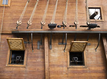 17th Century Galleon Cannons Royalty Free Stock Images