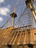17th Century Galleon Shrouds Stock Image