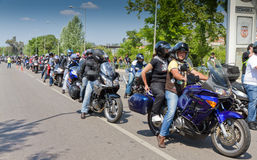 17th coimbra dagmotorcyclists Arkivfoton