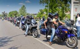 17th motorcyclists дня coimbra Стоковые Фото