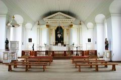 18世纪教堂内部 免版税库存图片