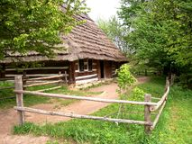 18个世纪房子村庄 免版税库存图片
