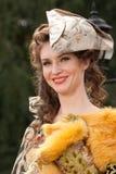 18个世纪衣裳妇女年轻人 免版税图库摄影