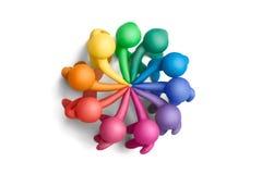 18个颜色团结了 免版税库存图片