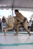 18位sumo摔跤手 免版税库存照片