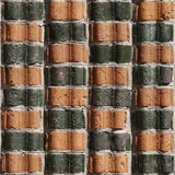 18块砖无缝的墙壁 免版税库存照片