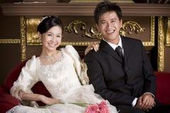 18对夫妇最近婚姻 库存照片