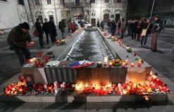 18布尔诺捷克12月数百peo共和国 免版税库存图片
