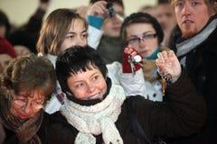 18布尔诺捷克12月数百peo共和国 图库摄影