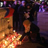 18布尔诺捷克12月数百peo共和国 库存照片
