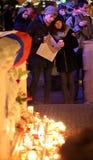 18布尔诺捷克12月数百peo共和国 库存图片