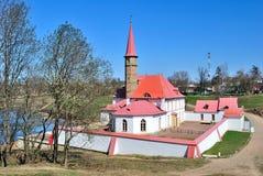 18座城堡世纪gatchina小修道院 库存图片