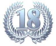 18颗月桂树花圈 皇族释放例证