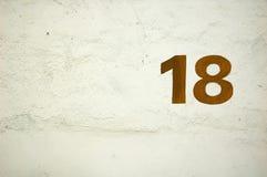 18 αριθμός Στοκ Φωτογραφία