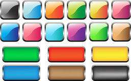 18 κουμπιά Ιστού! Στοκ Εικόνες
