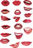 18 губ установили Стоковые Фотографии RF